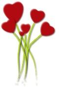 Romantic anniversary idea: Bunch of Hearts